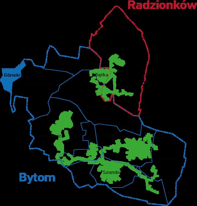 Mapa Górniki