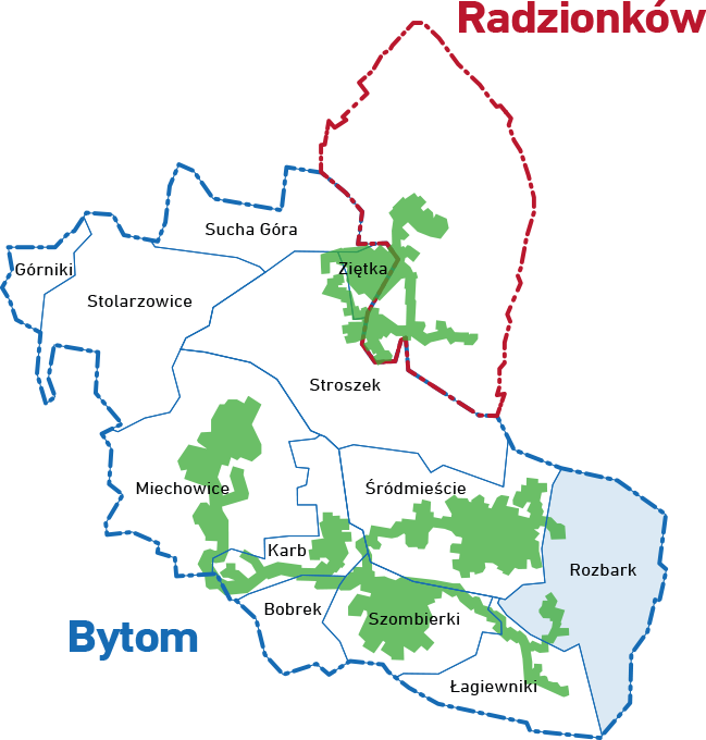 mapa Rozbark
